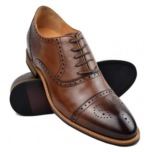 Vintage style Oxford shoes with inner risers that increase 7 cm Zerimar - 1
