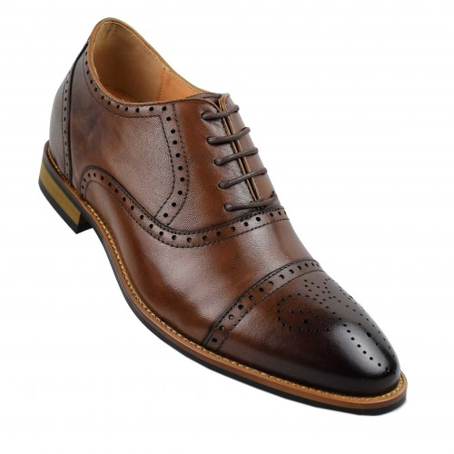 Vintage style Oxford shoes with inner risers that increase 7 cm Zerimar - 2