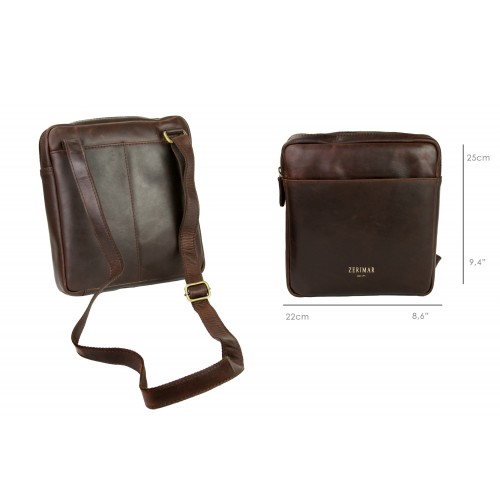 Unisex leather bag with...