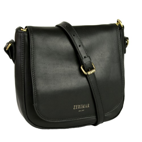 Leather shoulder bag with...