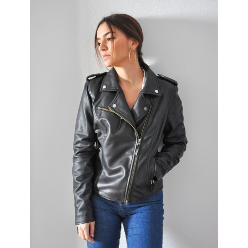 Black fitted jacket in...