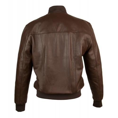 Leather bomber jacket...