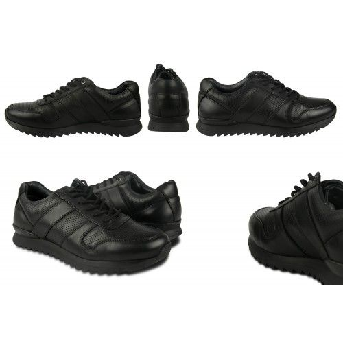 Basic leather sneakers with...
