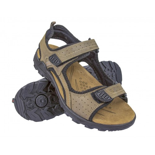 MOUNTAIN leather sandals with velcro closure Zerimar - 1