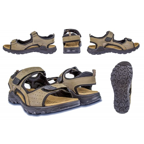 MOUNTAIN leather sandals with velcro closure Zerimar - 2