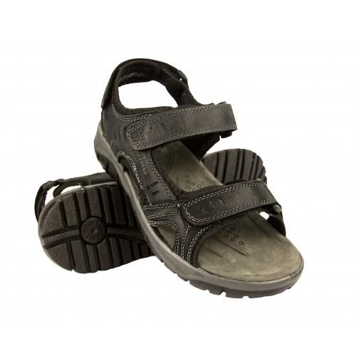 STONE leather sandals with velcro closure Zerimar - 1