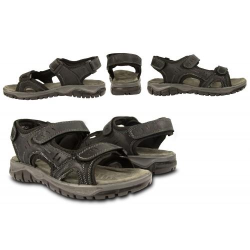 STONE leather sandals with velcro closure Zerimar - 2