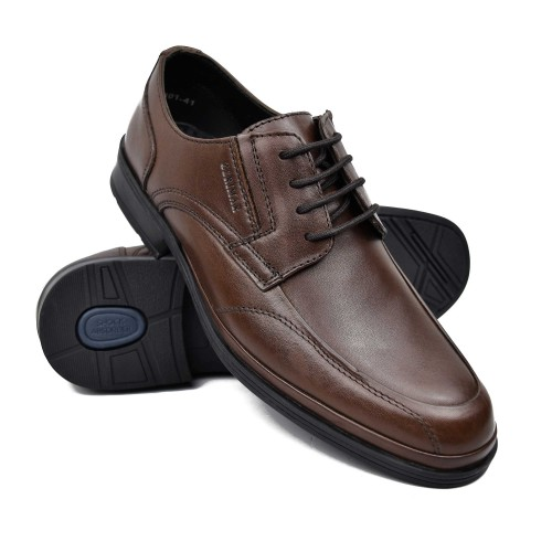 Men's lace-up leather work...