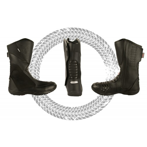 Leather Boots for Motorcycle, Motorcycle Leather Boots, Boots Moto 1 Kenrod - 2