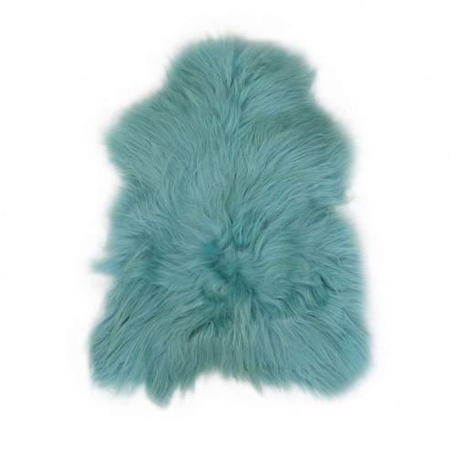 Natural lambskin rug light blue 90x60 cm Zerimar - 1