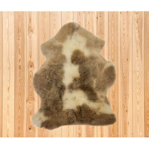 White brown lambskin rug...