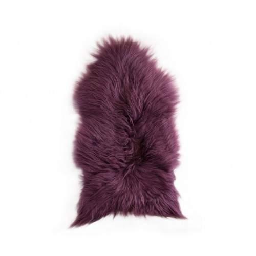 Natural lambskin rug 90x60 cm purple Zerimar - 1