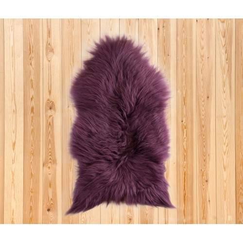 Natural lambskin rug 90x60 cm purple Zerimar - 2