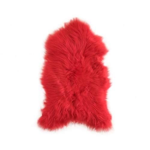 Natural lambskin rug red 90x60 cm Zerimar - 1