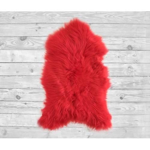 Natural lambskin rug red 90x60 cm Zerimar - 2