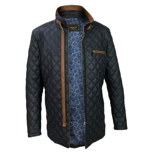 Padded leather jacket with double closure and buckle Zerimar - 2