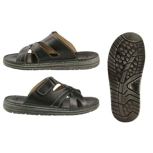 Leather sandal CARONTE model Zerimar - 2