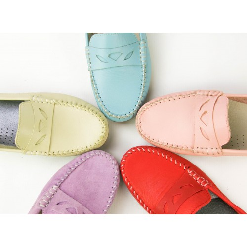 Leather loafers for women with decoration and seams Zerimar - 1
