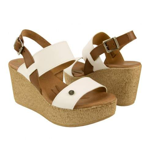 Wedge sandals made in leather ALIZE model Zerimar - 1