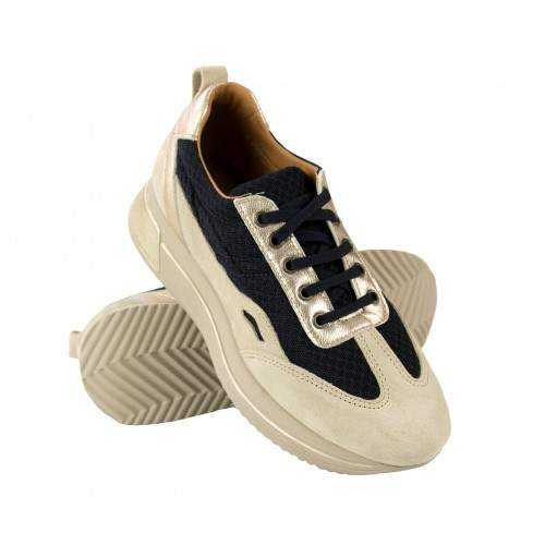 Leather sneakers combined with RAID model platform Zerimar - 1