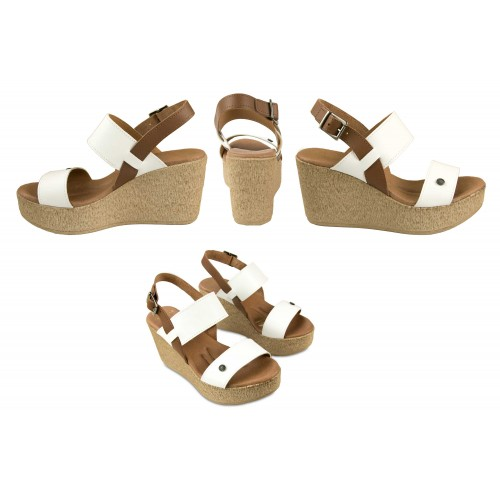 Wedge sandals made in leather ALIZE model Zerimar - 2