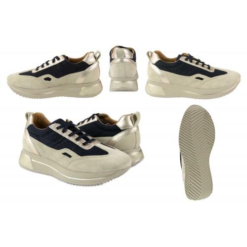 Leather sneakers combined with RAID model platform Zerimar - 2