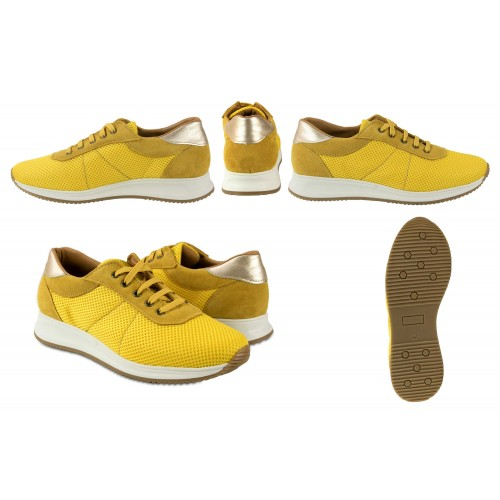 Leather sneakers combined with platform FLY model Zerimar - 2