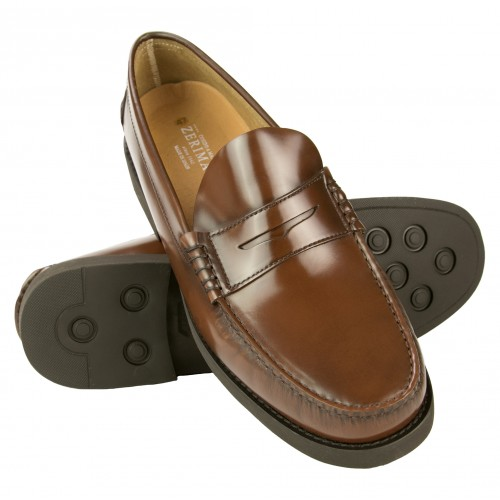Men's extralight loafers with leather color mask PLUS Zerimar - 1
