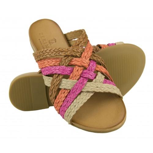 Braided leather sandals TRAMONTO model Zerimar - 1