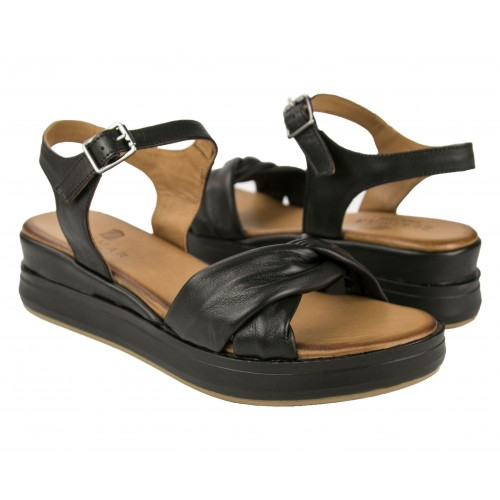 Leather sandals with platform and buckle closure NUDO Zerimar - 1