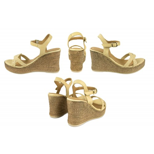 Leather wedge sandals...