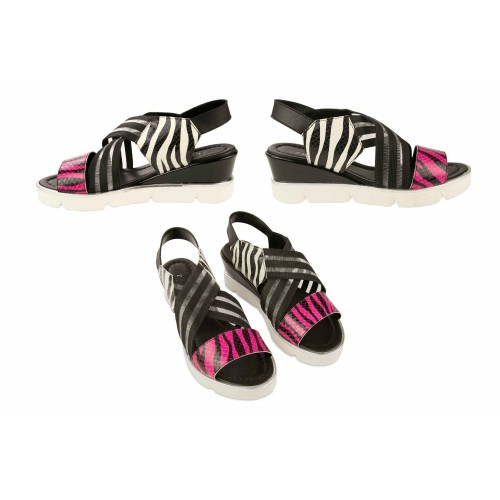 Leather sandals with...