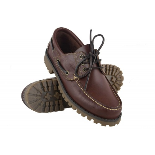 Winter leather boat shoes...