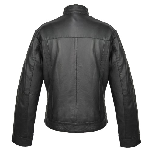 Leather jacket with zippers...