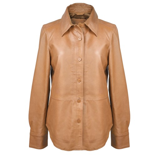 80s style buttoned leather...