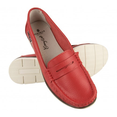 Leather loafers with mask...