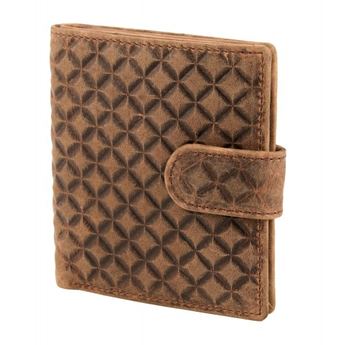 Engraved leather wallet for...