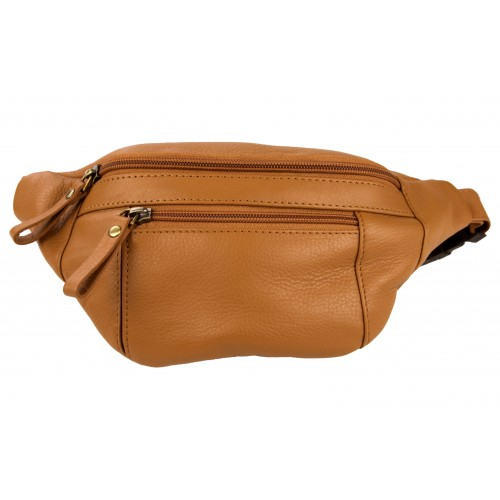 Leather belt bag with...