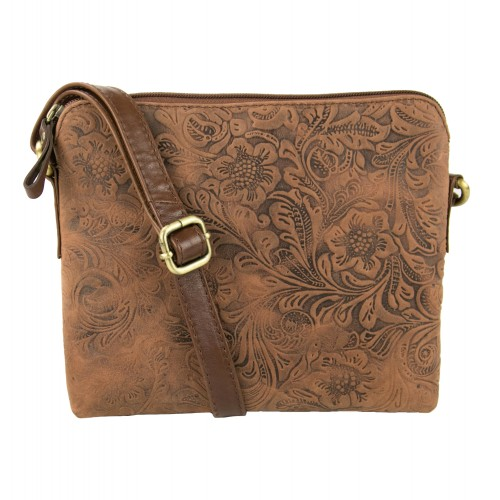 MEDIUM engraved leather bag...