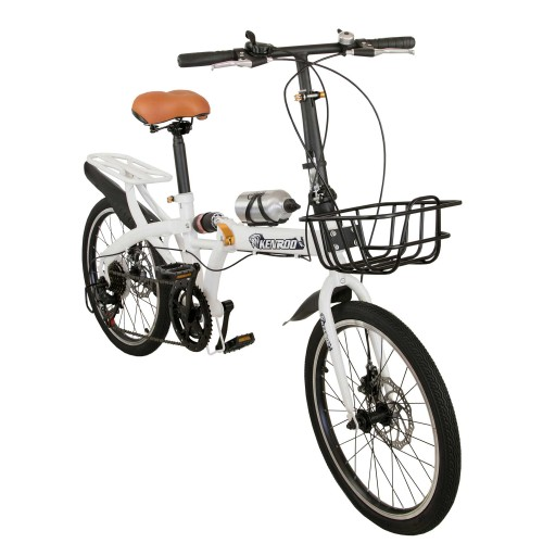 Foldable adult city bike 20 inches with basket Airel - 1