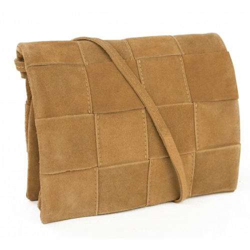 Braided suede leather bag...